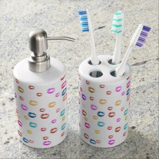 verdeelpartij van zeep en steun tandenborstel bad accessoires set