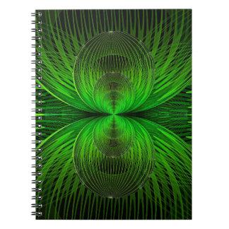 Verdeelt globaal Groen Notitieboekje Notitieboek