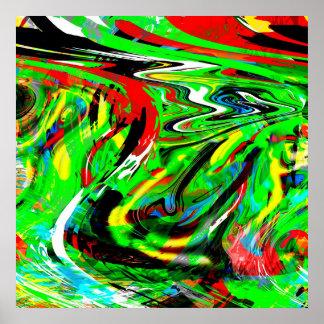 verdraaide abstractie poster