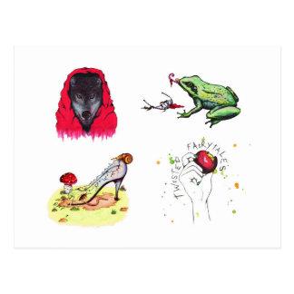 Verdraaide Fairytales (Briefkaart) Briefkaart