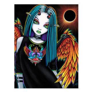 Verduister Weinig Engel van de Duivel van de Briefkaart
