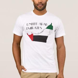 Verenigd Arabisch de vlag-Kaart van Emiraten T Shirt