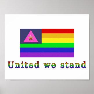 Verenigd, één liefde, één ras poster