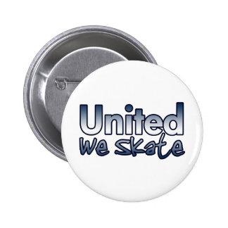 Verenigd schaatsen wij ronde button 5,7 cm