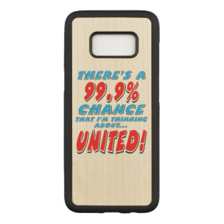 VERENIGDE 99.9% (blk) Carved Samsung Galaxy S8 Hoesje