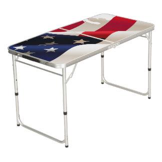 Verenigde Staten die vlag kronkelen Beer Pong Tafel