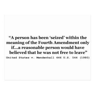 Verenigde Staten v Mendenhall de 446 V.S. 544 1980 Briefkaart