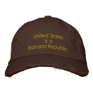Verenigde Staten zijn een Republiek van de Banaan Geborduurde Pet