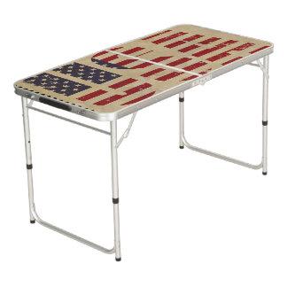 Verenigt de vlag van Staten Beer Pong Tafel