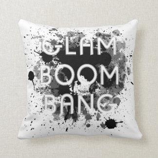 Verf Splat van de Boom van Glam de Zwarte & Witte Sierkussen