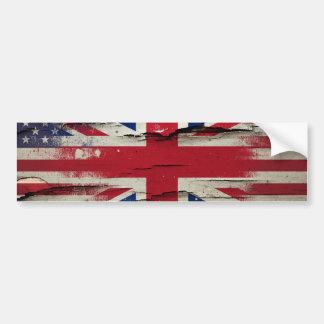 Verf | van ritselen Britse Amerikaanse Vlag Bumpersticker