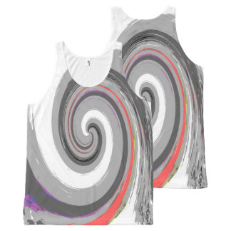 verf werveling All-Over-Print tank top