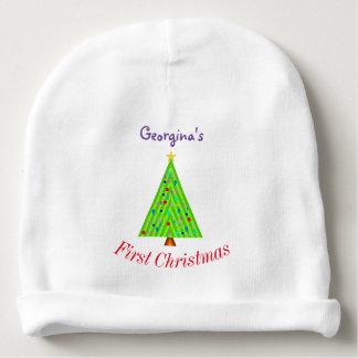 Verfraaide Kerstboom + Eerste Kerstmis van de baby Baby Mutsje