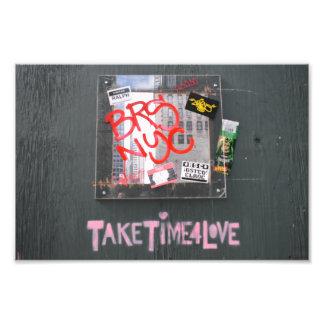 Verg Tijd voor de Fotografie Graffiti van de Foto Afdruk