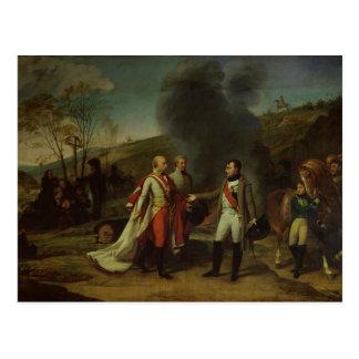 Vergadering tussen Napoleon I & Francis I Briefkaart