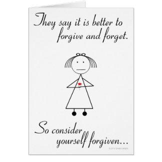 Vergeef en vergeet kaart