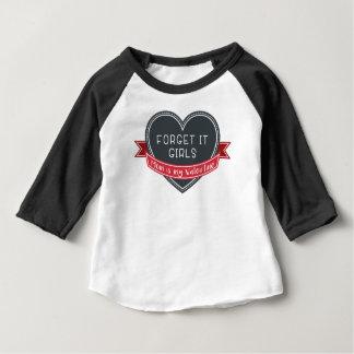Vergeet het meisjesMamma mijn Valentijn is Baby T Shirts