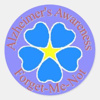 Vergeet me niet de Sticker van Alzheimer