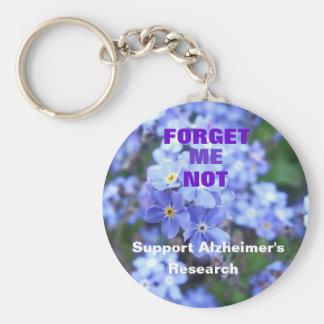 Vergeet me niet Keychain van Alzheimer Sleutelhanger