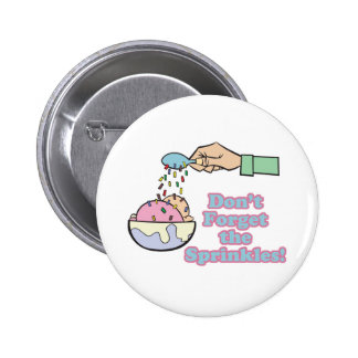 vergeet niet bestrooit ronde button 5,7 cm