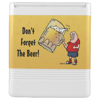 Vergeet niet de Grappige Koelbox van het Bier Igloo Koelbox