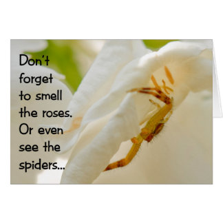 Vergeet niet om de rozen te ruiken kaart