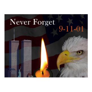 Vergeet nooit 9-11-01 briefkaart