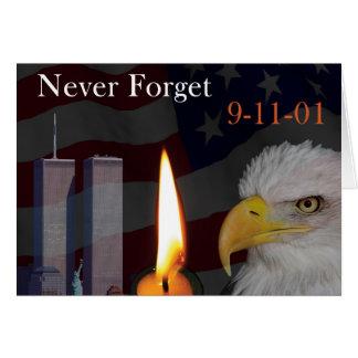 Vergeet nooit 9-11-01 briefkaarten 0