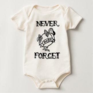 Vergeet nooit Dodo Baby Shirt