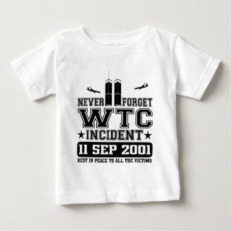 Vergeet nooit World Trade Center 11 September 2001 Baby T Shirts