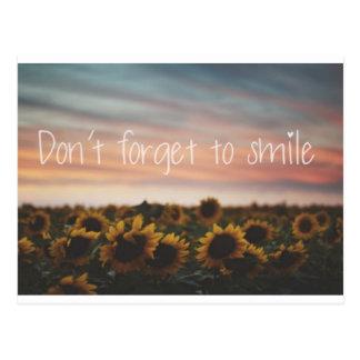 Vergeet om geen Briefkaart te glimlachen