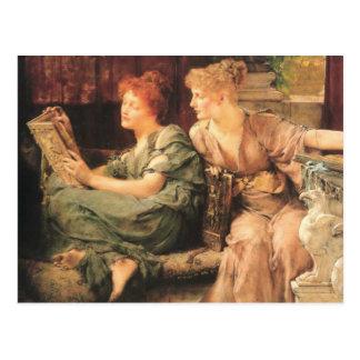 Vergelijkingen in detail door Lawrence Alma-Tadema Briefkaart