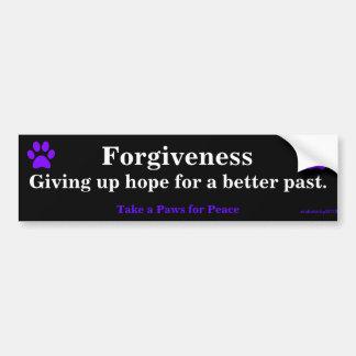 Vergiffenis, die hoop voor een beter verleden opge bumpersticker