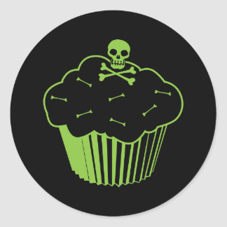 Vergift Cupcake Ronde Sticker