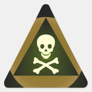 vergift driehoekvormige stickers