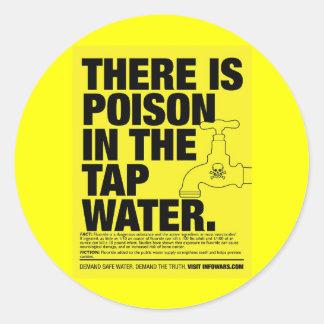 vergift leidingwater ronde stickers