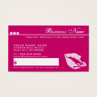 vergift lippen giftcard visitekaartjes