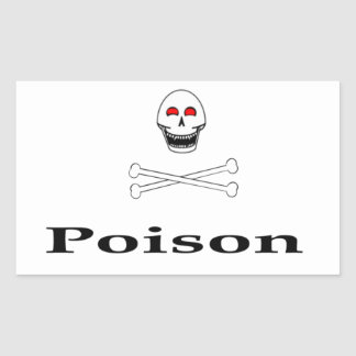 Vergift Rechthoekige Sticker