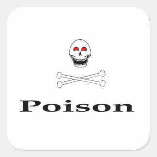 Vergift Vierkante Sticker