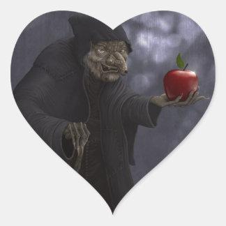 Vergiftigde appel hartvormige stickers