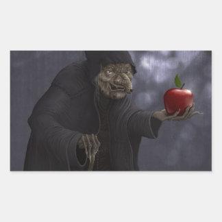 Vergiftigde appel rechthoek sticker