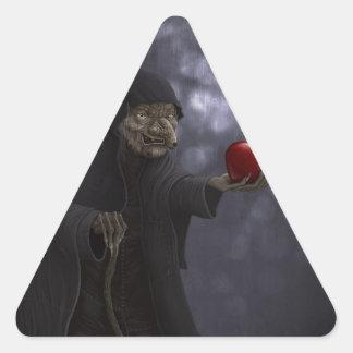 Vergiftigde appel driehoekvormige stickers