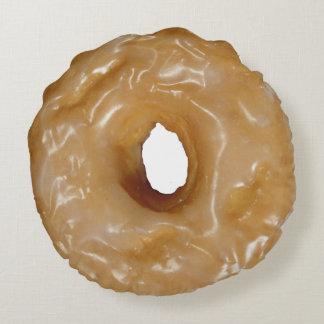 Verglaasde doughnut rond kussen