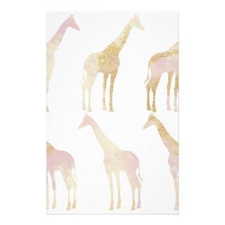 Vergulde Giraffen 1 Briefpapier