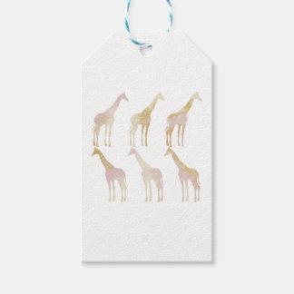 Vergulde Giraffen 1 Cadeaulabel