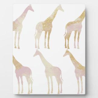 Vergulde Giraffen 1 Fotoplaat