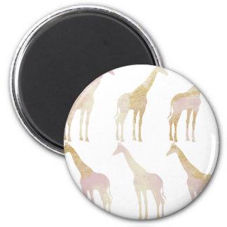 Vergulde Giraffen 1 Magneet