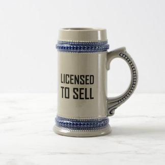 Vergunning gegeven om te verkopen bierpul