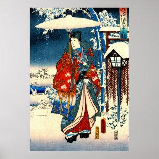Verhaal van Genji 1853 Recht Poster