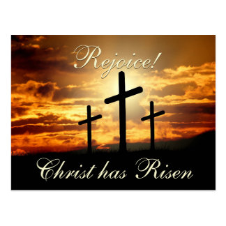 Verheug me! Christus is, de Kruisen van Pasen Briefkaart